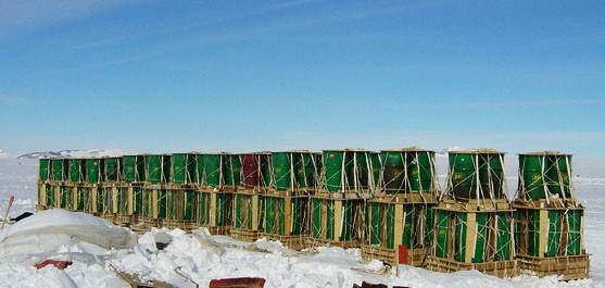В Антарктиде самолетом Ил-76 доставлено 168 бочек с топливом на станцию Восток