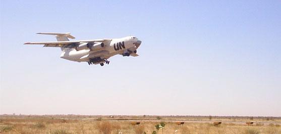В период с 29 октября по 9 декабря 2009 года производилось беспарашютное десантирование продовольствия в Республике Судан (Эль-Обейд)