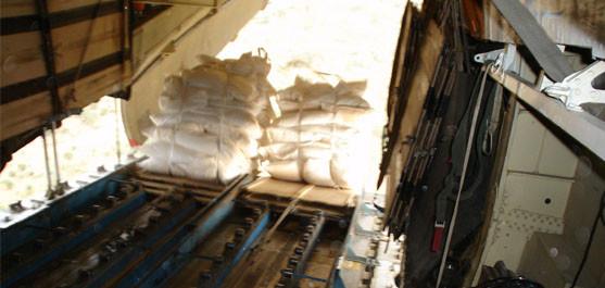 В период с 28 февраля 2014 г. по настоящее время осуществляется беспарашютное десантирование продовольствия в Республике Южный Судан