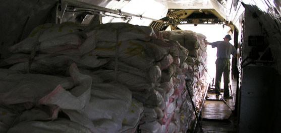 С 2015 г. Наша Компания обеспечила сертифицированным оборудованием и специалистами работу на самолете Ил-76 по беспарашютному сбросу гуманитарных грузов в интересах Red Cross