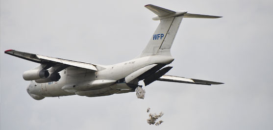 Since 2015 our company provides certified equipment and specialists for the UN WFP in order to free dropping of humanitarian cargo to the territory of South Sudan